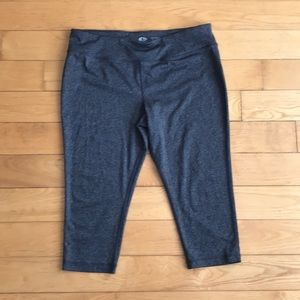 Athletic Works Fitted Crop Grey Workout Crops
